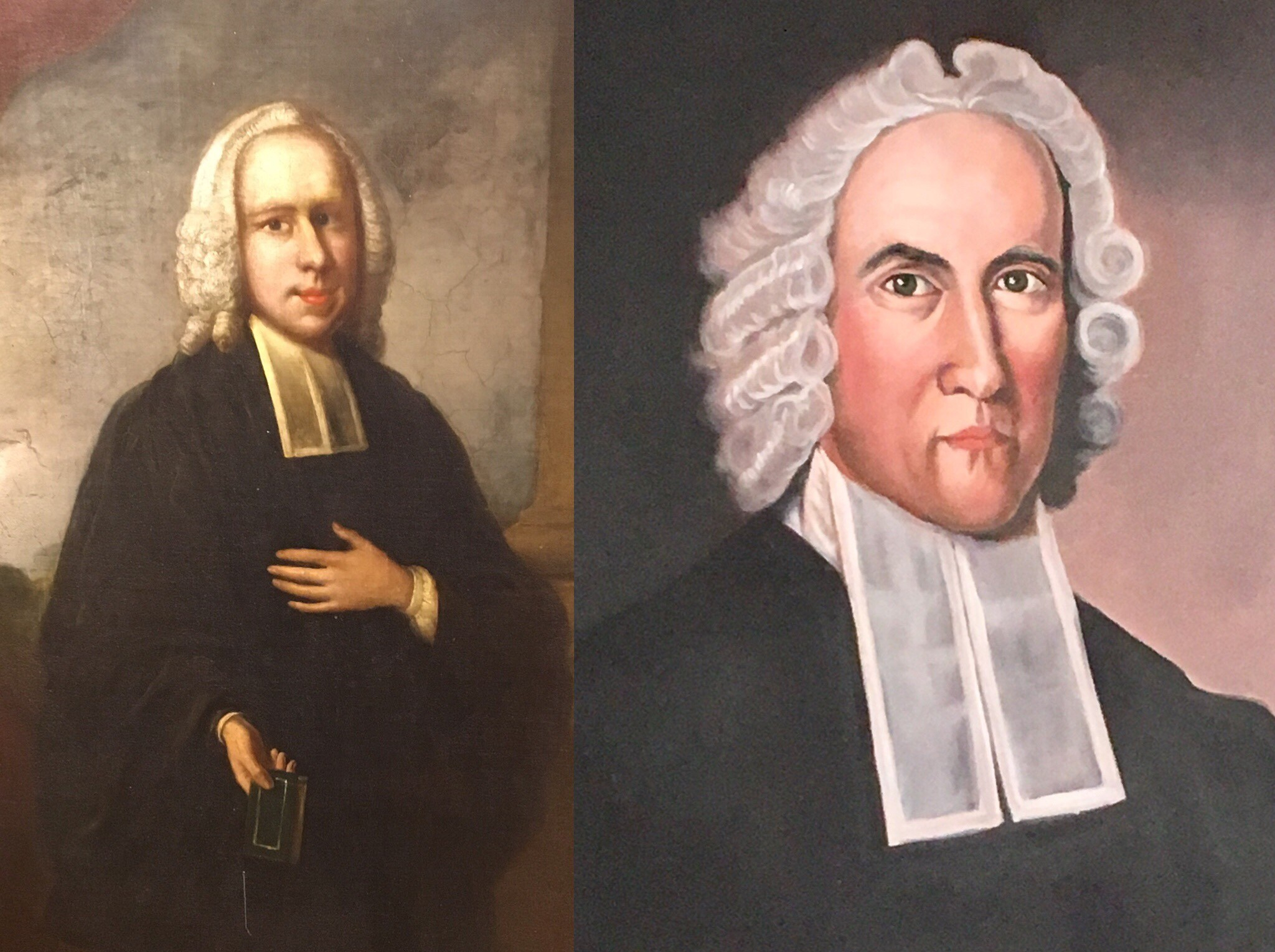 Whitefield & Edwards with wigs